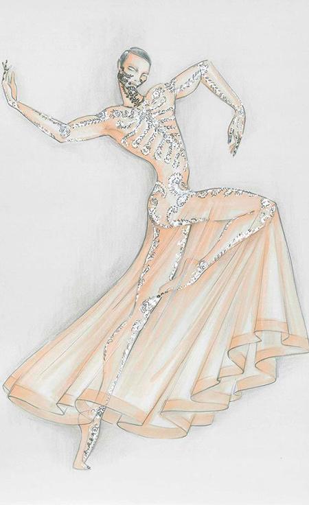 Boceto Tisci ballet París