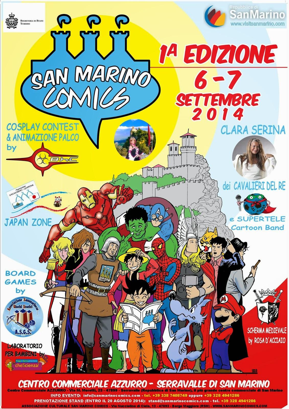 SAN MARINO COMICS 2014 - FESTIVAL DEL FUMETTO, DEL COSPLAY E DELLA MUSICA