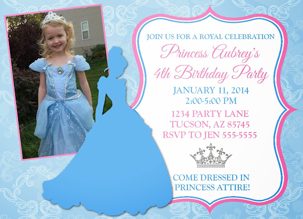 Cinderella Party Invitation Printable Free