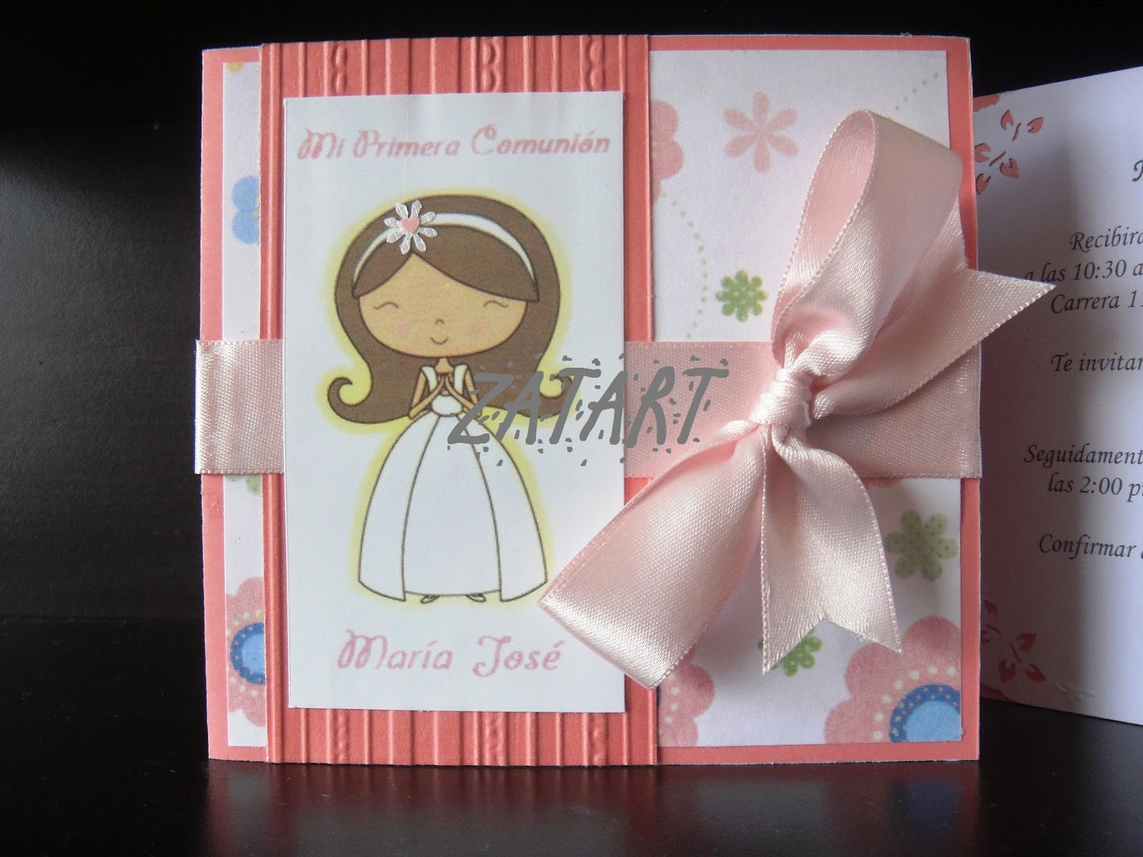 Tarjetas originales para primera comunion imagui - Como hacer tarjetas para comunion ...