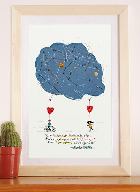 """Ilustración con frase """"Constelación"""""""