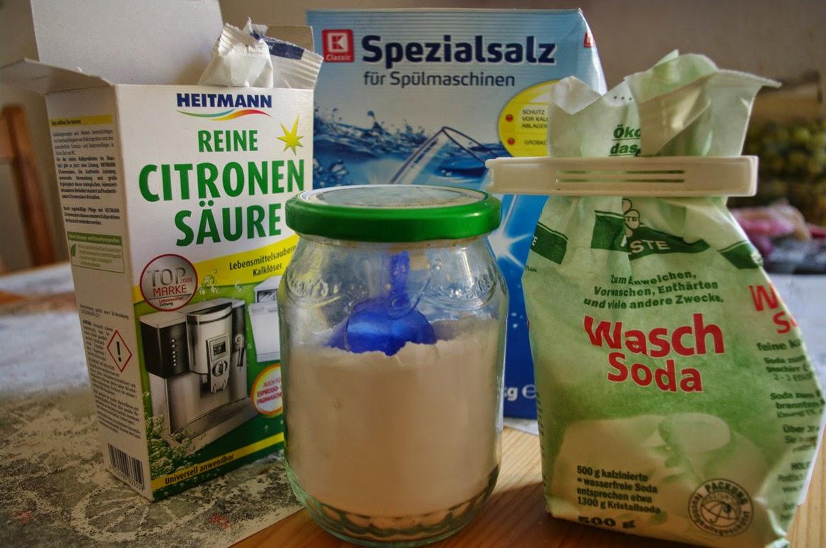 Leben mit Genuß Selbstgemachtes Geschirrspülmittel ~ Geschirrspülmaschine Zitronensäure