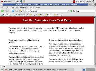 LAMP Quickstart for Red Hat Enterprise Linux 4