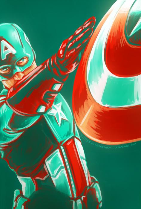 Avengers - Captain America por Kumagorochan