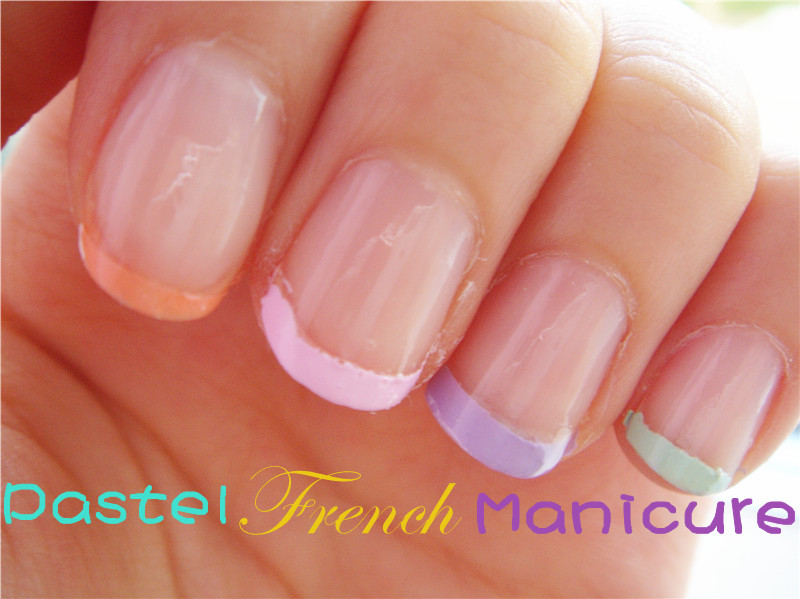 Lavender Fedora: Tutorial: Pastel French Manicure