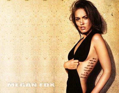 Megan Fox Tattoos Wallpaper