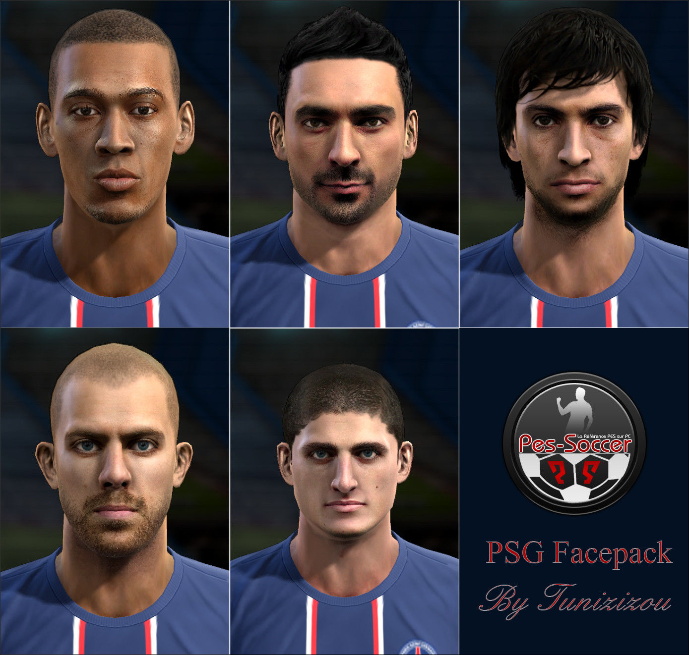 Ultigamerz Pes 2010 Pes 2011 Face: PES-MODIF: Download PSG Facepack PES 2013 By Tunizizou