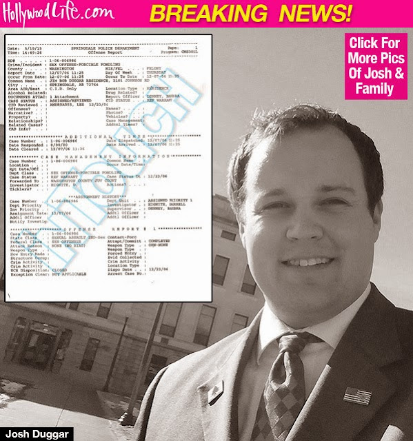 Josh Duggar Bombshell: Police Report Alleges He Molested 5 Female Minors