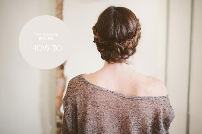Sincerely Kinsey Twisted Maiden Braid Bun Hair Tutorial