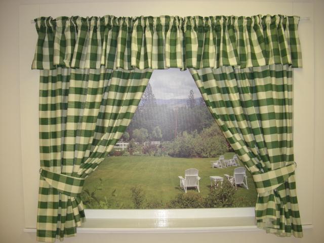 Exceptionnel Green Kitchen Curtains
