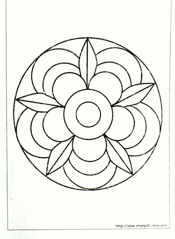 Maestra caterina mandala di primavera for Disegni di mandala semplici