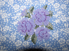 Cross-Stitch design in Machine Embroidery