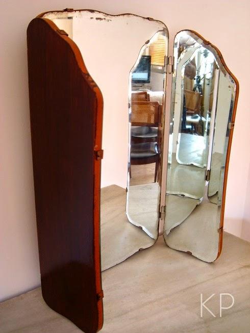 Espejos antiguos con tras partes o alas abatibles