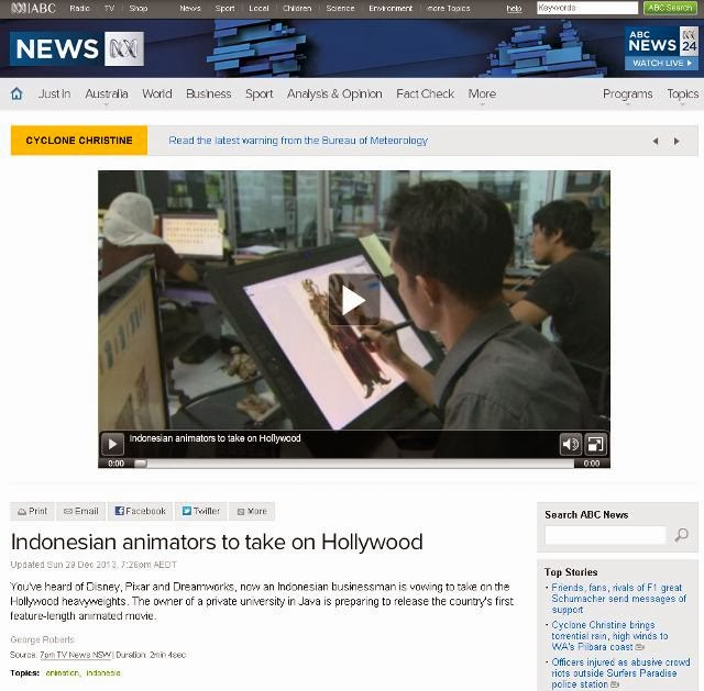 ABC - Indonesian animators to take on Hollywood