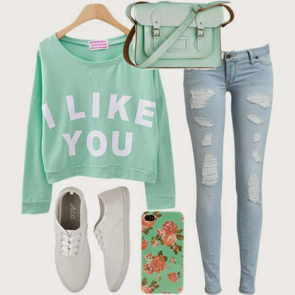 teen-fashion-cute green-mint-green-sweater