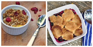 Apple Crumb y Berry Cobbler