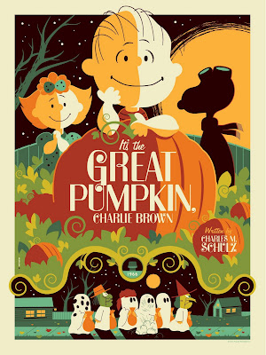Peanuts &#8220;It&#8217;s The Great Pumpkin, Charlie Brown&#8221; Standard Edition Screen Print by Tom Whalen