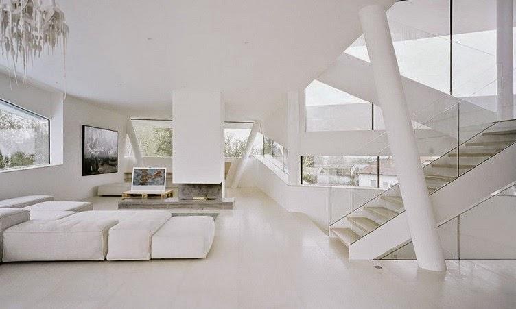 Casa minimalista freundorf project a01 viena austria for Casa minimalista interior blanco