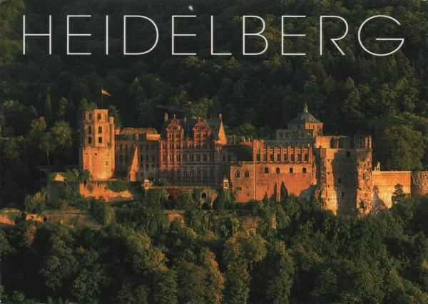 heidelberg castle in evening sun