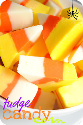 fudge cut and colored to look like candy corn