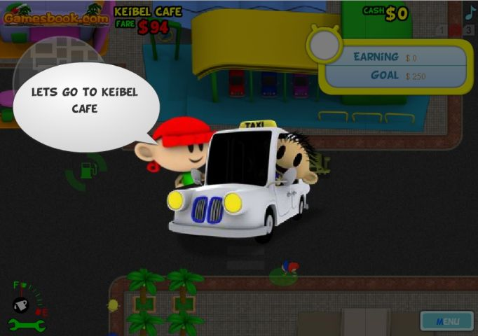 Search in games sim taxi