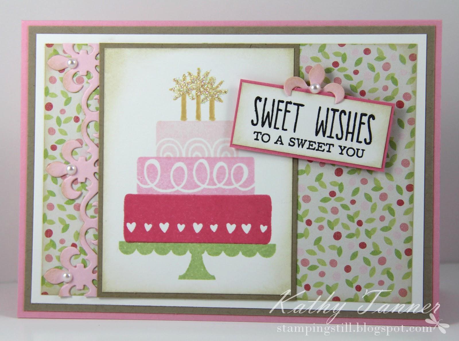 layer cake, the greetings farm, fleur de lis accents