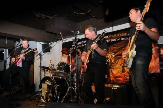 The Arcadeans: blues-rockers from Cork, Ireland played in E112 of the ArenaCast