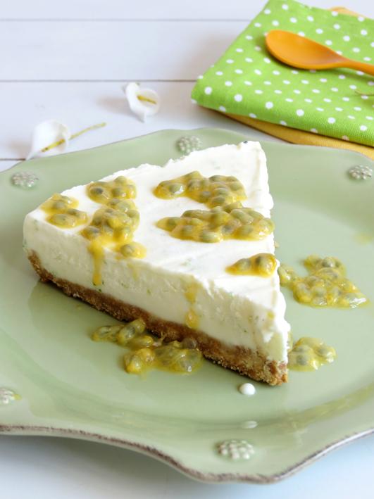 tarte gelada de lima e maracujá