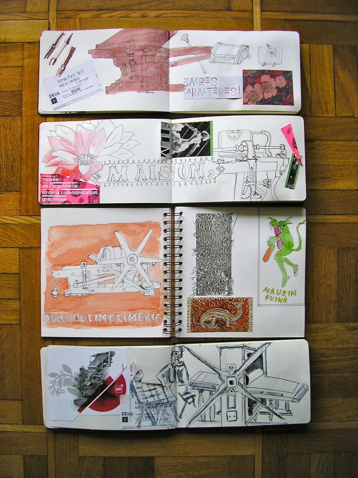 Cours de dessin et de peinture carnets de voyage for Carnet de voyage restaurant lyon
