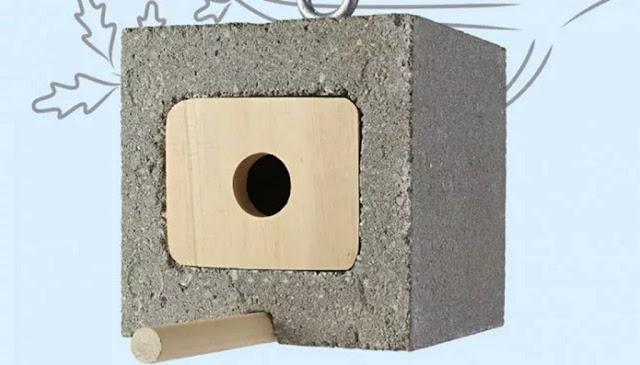 Cinder Blocks Birdhouse