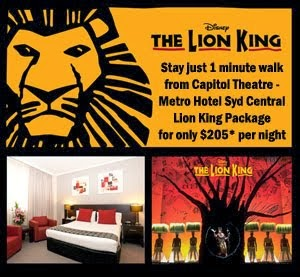 Capitol Theatre Lion King Package