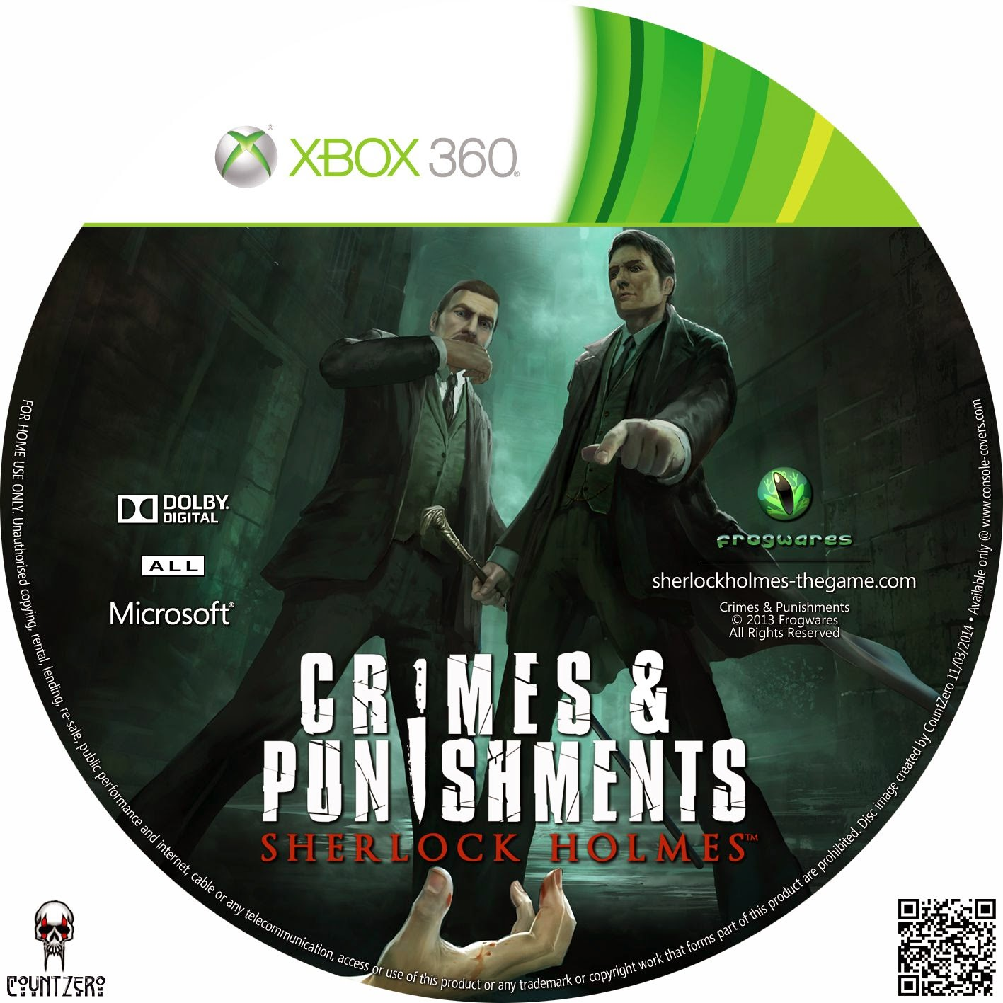 Label Sherlock Holmes Crimes & Punishments Xbox 360