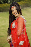 Actress Juhi in red saree Hot Photos
