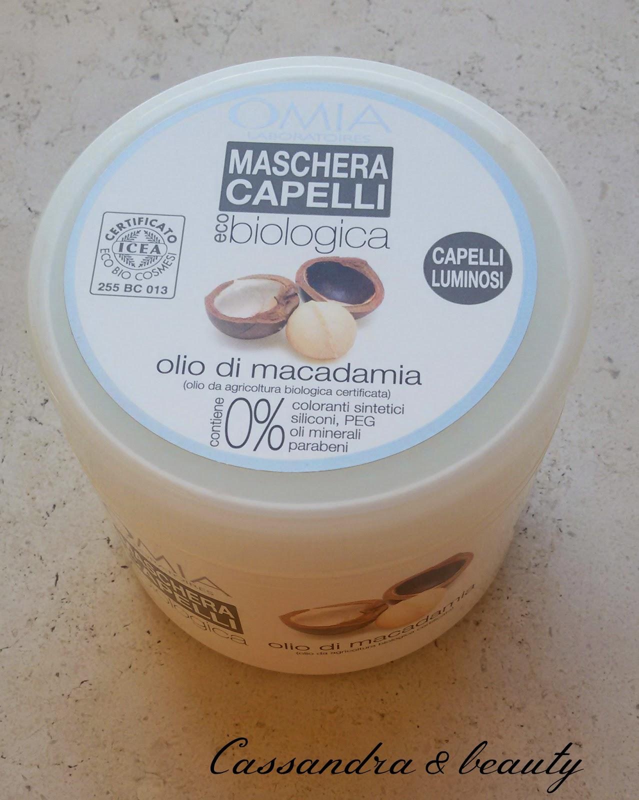 Maschera capelli OMIA all'olio di Macadamia / recensione