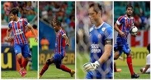 Bahia com 4 jogadores entre os piores do Brasileiro