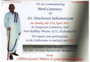 Centenary Celebrations of Sri. P. Subramanyam