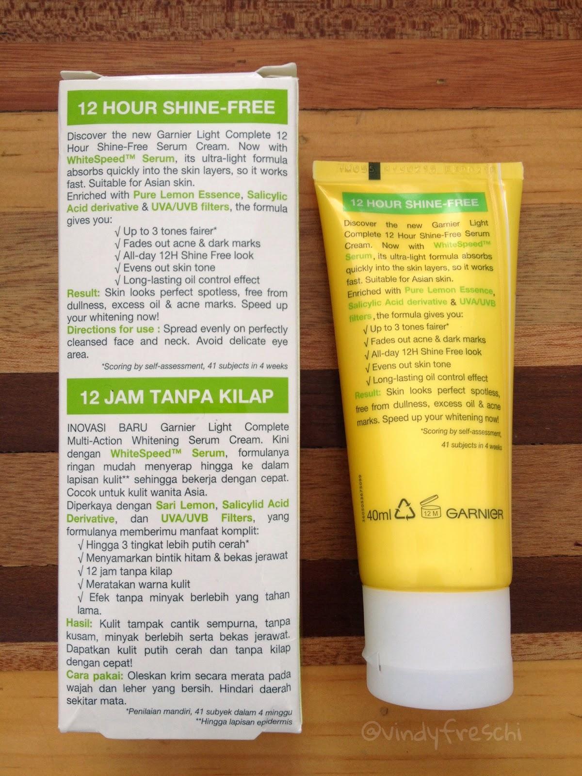 Serum Cream Shine Free ini adalah day cream yang bisa menyamarkan bintik hitam dan bekas jerawat membuat wajah bebas dari kilap hingga 12 jam