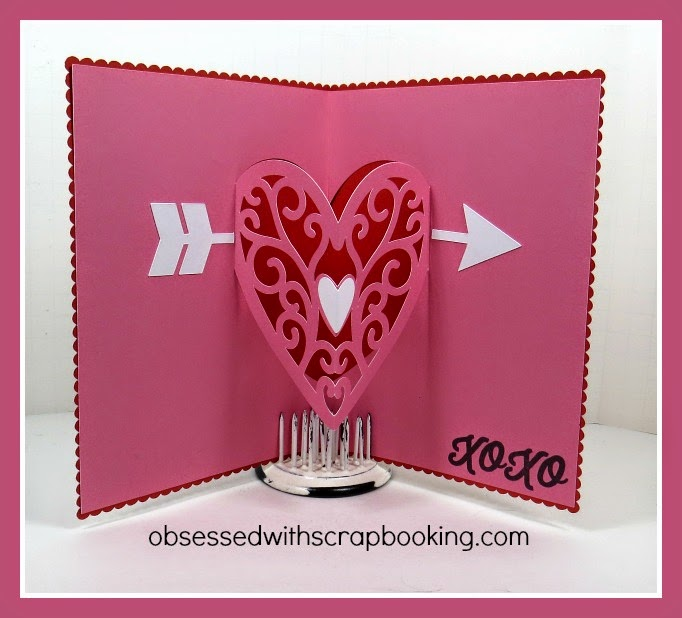 Obsessed with Scrapbooking Video How to Make a Heart Pop Up Card – How to Make Pop Up Valentine Cards