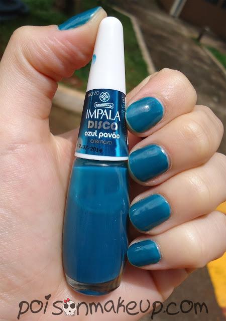 Esmalte Azul Pavão Impala