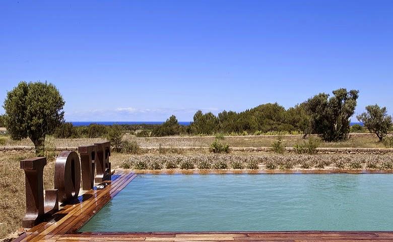 casa de vacaciones con piscina en Formentera