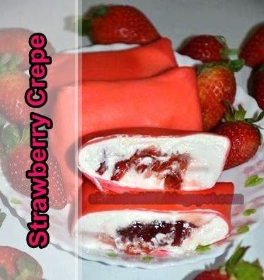 Resipi Strawberry Crepe