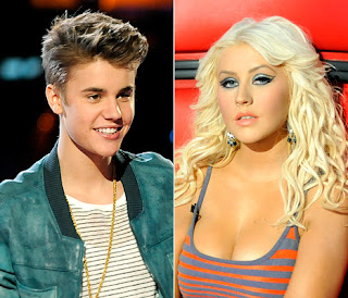 See Christina Aguilera Diss Justin Bieber on The Voice