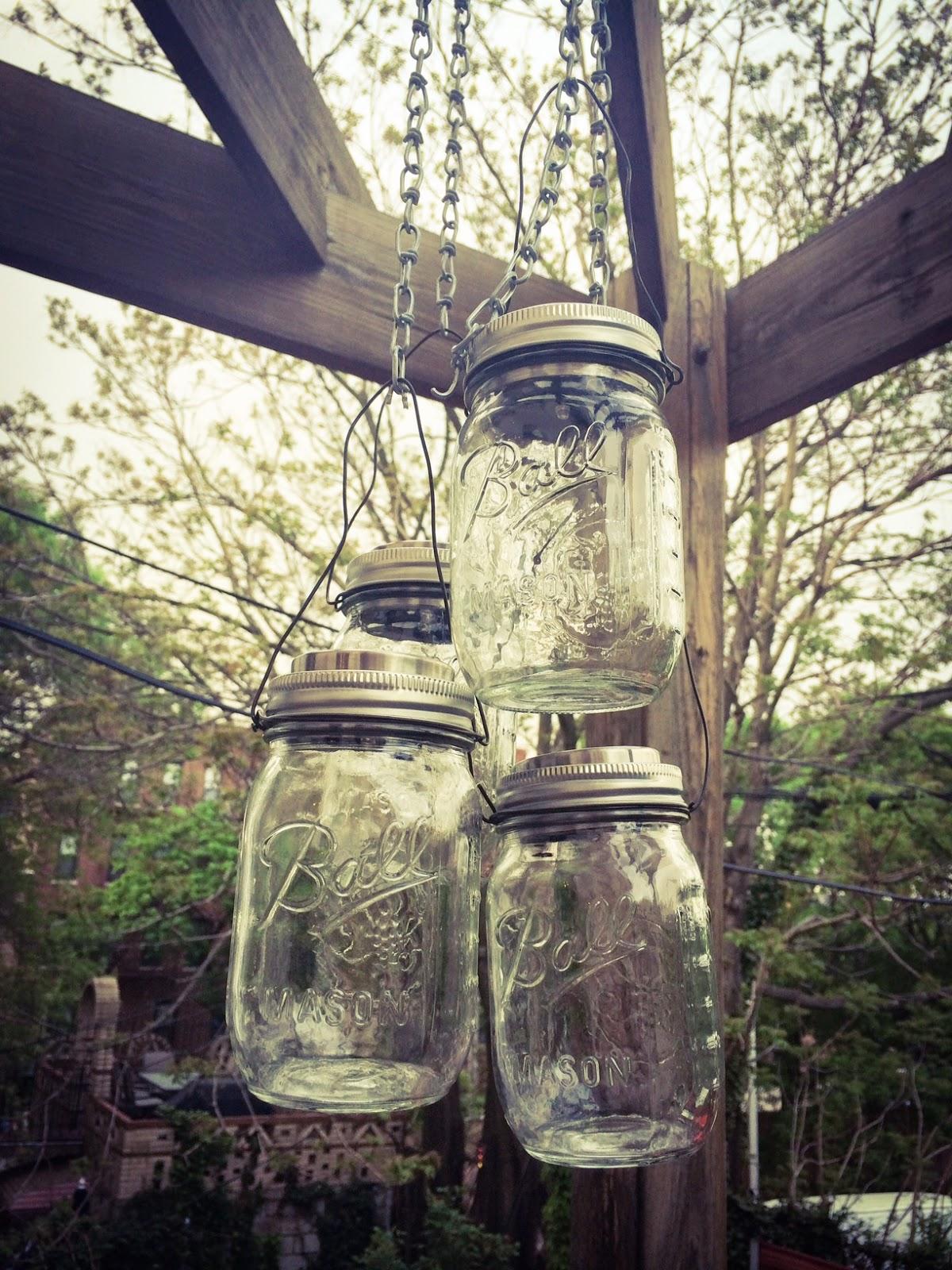 Cool outdoor mason jar chandelier solar brooklynlimestone