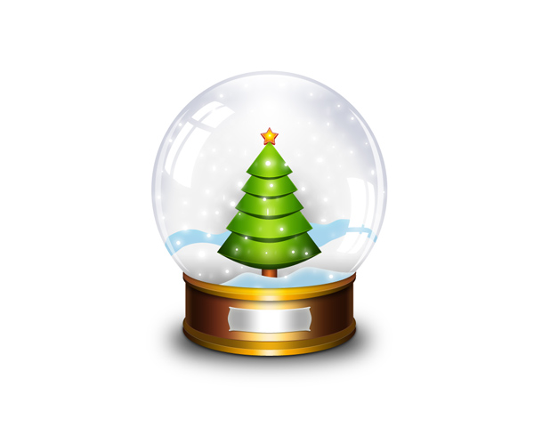 Christmas Snow Globe Clip Art Pictures And Cake Decoration