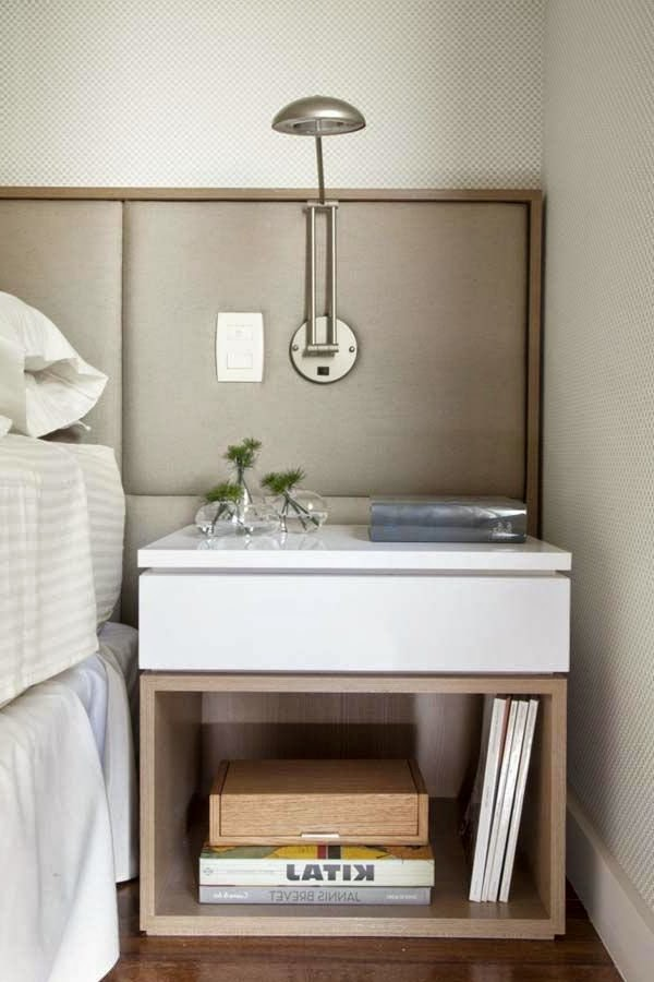Small Bedside Table Designs, Modern Designed White Bedside