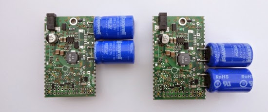 Diferentes posições do capacitor para Raspberry Pi Model B ou B+