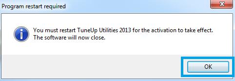 tuneup restart