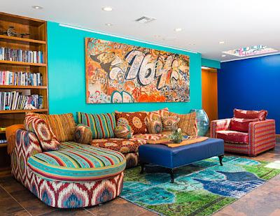 Bild Wohnzimmer Bunt : Welt der sitzsäcke und sessel hippiestill in wohnungeinrichtung