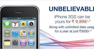 iPhone 3GS, Aircel iPhone 3GS, specifications of Aircel iPhone 3GS, Price of Aircel iPhone 3GS, Actual price of iPhone 3GS, 2GB 3G internet free, Aircel postpaid plan