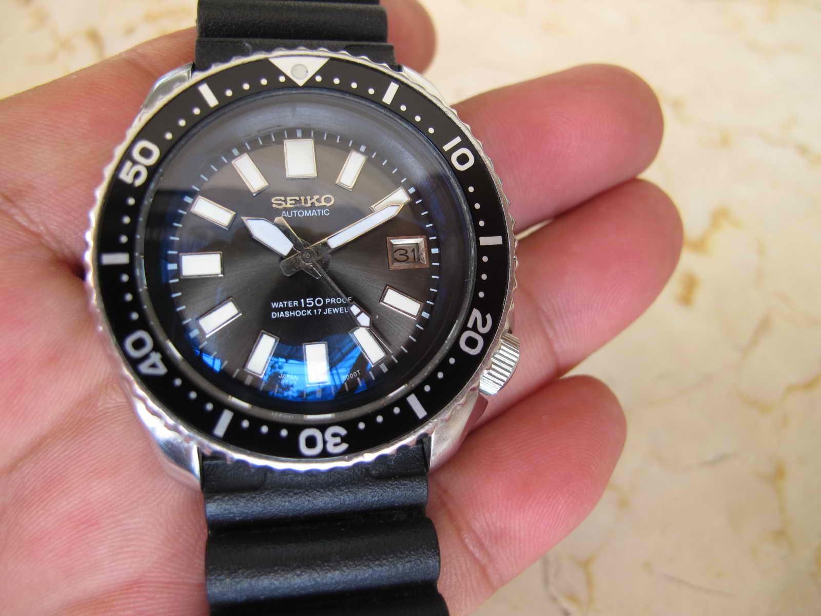 Cocok untuk Anda yang sedang mencari jam tangan model Sports Diver yang tidak ada persamaan dua nya SEIKO DIVER 7002 MODIF DIAL 6217 MAS DIVER